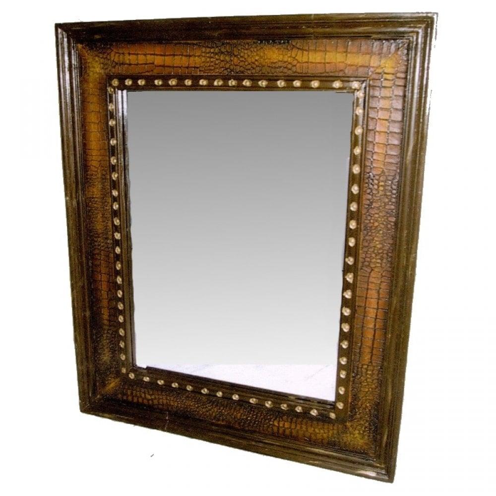 f1638eb698 Καθρέπτης τοίχου ξύλο δέρμα 72x3x87 Έπιπλα σπιτιού   διακοσμητικά ...