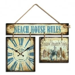 Ρολόι Beach House Rules